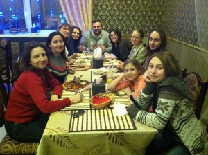 Eating at the Armenian Restaurant