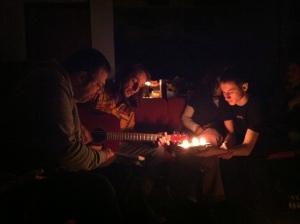 """Singing Ukrainian Folk Songs around our """"Vohnyk"""""""
