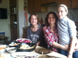 Sasha, Tania and Zhenya Xmas Day