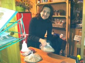 "Tanya in her Urban Gardening Boutique ""Nashe Yarmarok"""