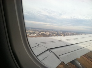 Lviv from my plane window!