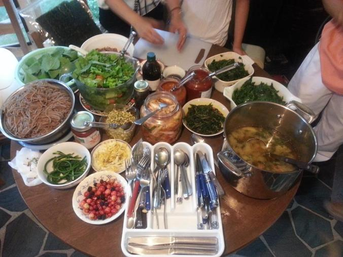 Our delicious Korean Feast!