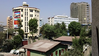 View from my window in Addis Ababa!