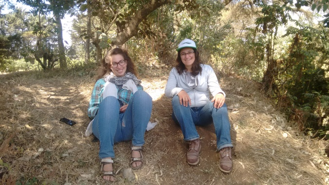 Me and my friend Tamar from the Israeli NGO Fair Planet chilling at the nursery : )