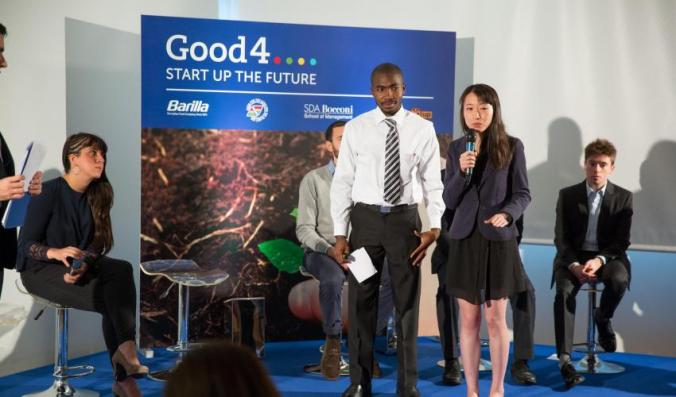 Junior Beavais and Fang Wan winning the Barilla Good 4 Grant for the Haitian Heirloom Seed Bank back in February!